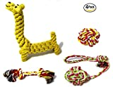 Ropeez Dog Chew Toys For Puppy Teething, Aggressive Chewers, Small Dogs. Natural, Safe