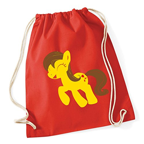 46cm pony Bag litres 37cm School Bright Gym Sack Red 12 HippoWarehouse Drawstring Cotton Kid x Rose f5cw0P