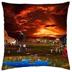 The Little Cowboy - Throw Pillow Cover Case (18