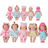 Huang Cheng Toys 12-inch Doll Set of 5 Handmade Lovely Bathrobe Dress Clothes Outfits Costumes