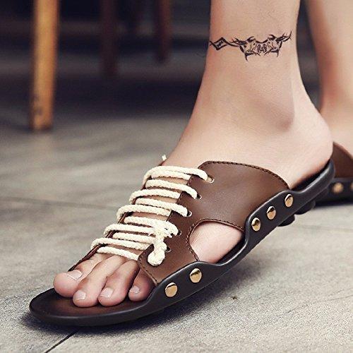 Sommer Sandalen Männer Breathable Trend Schuh Flip Flop Männer Strand Schuh Ultra-Licht Trend Schuh Sandalen, braun11, UK = 7, EU = 40 2/3