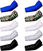 10 Pairs UV Protection Cooling Warmer Arm Sleeves Men Women Kids Sunblock Protective Gloves Running Golf Cycli