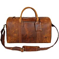 f709913c4d Leather Travel Duffel Bag Overnight Weekend Luggage Carry On Airplane  Underseat
