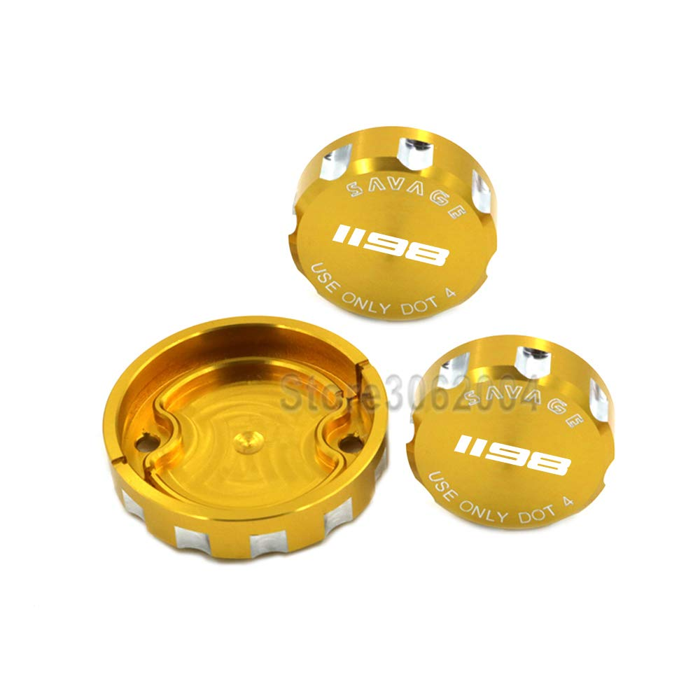 crazy sport For DUCATI DUCATI 1198//R//S 2009-2011 Front Brake Clutch /& Rear Brake Reservoir Cover Cap Oil Tank Cup Motorcycle Accessories With Logo Gold