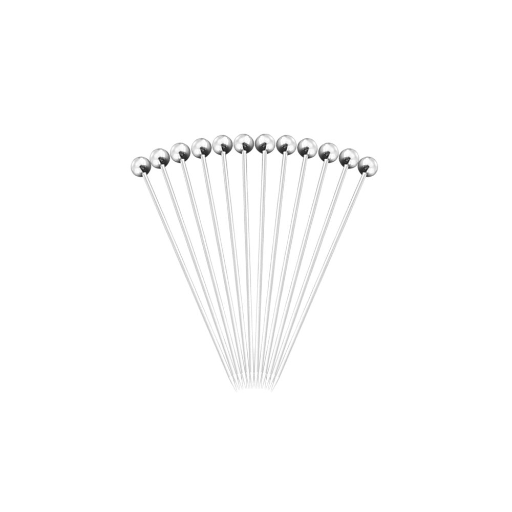 12pcs Stainless Steel Picks Will Not Drown in Your Martinis Cocktails and Bloody Marys Stainless Steel Fruit Pin Fruit Check Cocktail Sign Fruit Fork Wine Tool