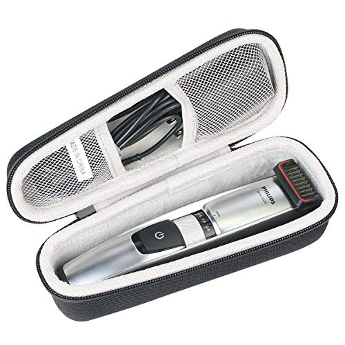Khanka Hard Travel Case Replacement for Philips Norelco Beard & Head trimmer Series 5100/7000 built-in length settings, hair clipping combs