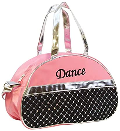 f2a85353d021 1 Perfect Choice Dance Bag, Sporty Girls Kids Gymnastic Cheer Nylon Half  Moon Laser Sequined Silver, Light Pink