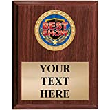 5x7 Walnut Finish Best in Show Plaques - Customized Recognition Plaque Awards Prime