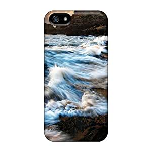 [uPTnX1172UdYzb]premium Phone Case For Iphone 5/5s/ Ocean Waves On A Rocky Shore Tpu Case Cover