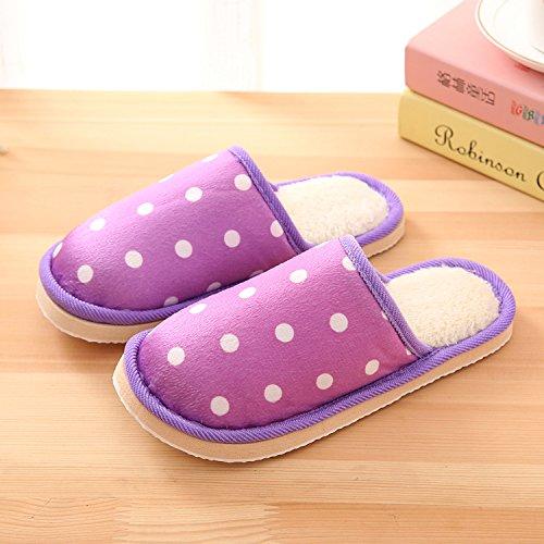 pieds 40 Cotton à Hommes Chaussons convient chauds Padded intérieur mètres Slipper 39 pois d'hiver LaxBa 38 Chaussures peluche antiglisse Femmes pour 39 Wx4vZ8nwq1