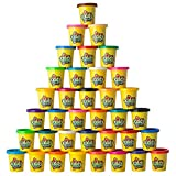 Kiddy Dough Compound 36 Pack of Color Dough - Mega Modeling & Sculpting Playset With 36 Individual 3-Ounce Cans Exclusive Bulk Party Pack - Non-Toxic - Conforms to ASTM D4236