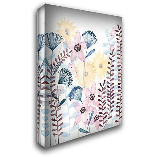 Pastel Posies I 28x36 Gallery Wrapped Stretched Canvas Art by Popp, Grace