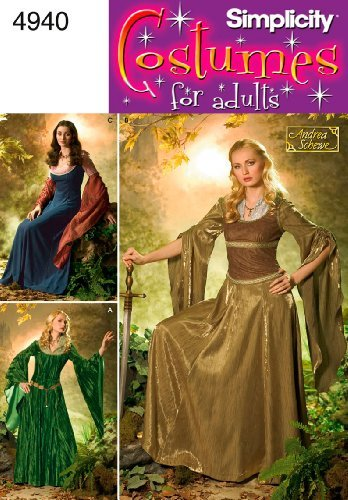Simplicity Costumes Pattern 4940 - Simplicity Sewing Pattern 4940 Misses Costumes,