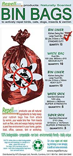 Repellem Kitchen swing bin bags
