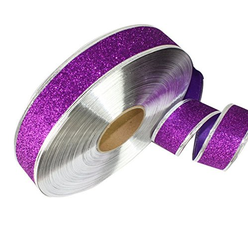 Choeko Sparkly Gold Ribbon Premium Glitter Metallic Ribbon for Crafters, Wedding, Party, Gift Wrap, Card Making,Decorating Christmas tree,2 rolls X200cm (Sophisticated Halloween Nails)