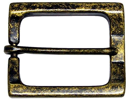 Rectangular Heel Bar Single Prong Center Bar Belt Buckle 1-1/2