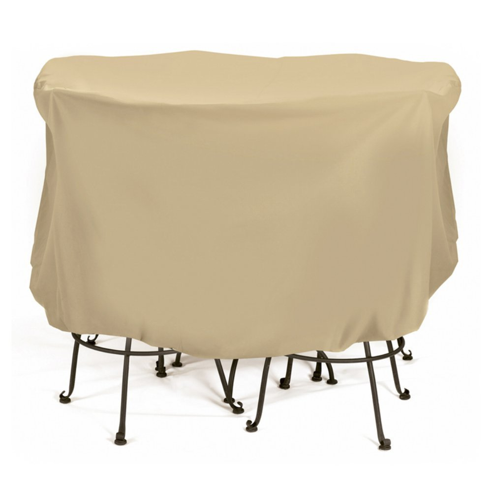 Two Dogs Designs 2D-PF74005 Bistro Set Cover With Level 4 UV Protection, 74-Inch x 44-Inch, Large, Khaki