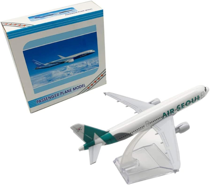 Modelos de avi/ón para Adultos NUOLANDE Avi/ón Modelo Corea aleaci/ón de Juguetes de simulaci/ón del avi/ón de pasajeros est/ática Decoraci/ón 16CM del Sur Se/úl Airbus A320