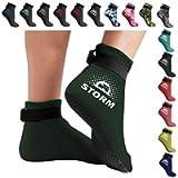 BPS 'Storm Sock' 3mm Neoprene Beach Diving Socks, Flexible Water Socks Low Cut Booties Anti Slip Fin Socks for…