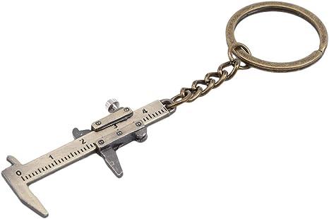 3D Movable Precision Miniature Pocket Vernier Caliper LHHA Fashion Mini Vernier Caliper Keychain Keyring Alloy