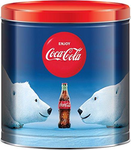 Coke Polar Bears Holiday Popcorn Assortment 24 Ounce Tin