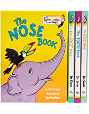 The Big Box of Bright and Early Board Books About Me: The Foot Book by Dr. Seuss; The Eye Book by Dr. Seuss; The Tooth Book by Dr. Seuss; The Nose Book by Al Perkins