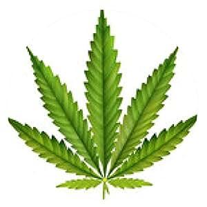 alfombrilla de ratón hoja de cannabis - ronda - 20cm