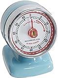 Kikkerland Vintage Streamline Kitchen Timer, Blue
