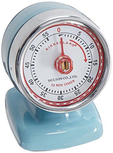Kikkerland Timer - Kikkerland Vintage Streamline Kitchen Timer, Blue