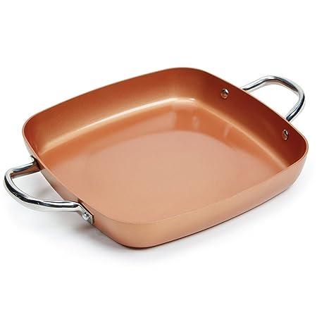 Amazon.com: Cacerola llana XL Plus de Copper Chef con ...