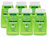 6 and 1 conditioner - Garnier Fructis Pure Clean 2-in-1 Shampoo and Conditioner for Normal Hair, 1.7 Ounce (Pack of 6)