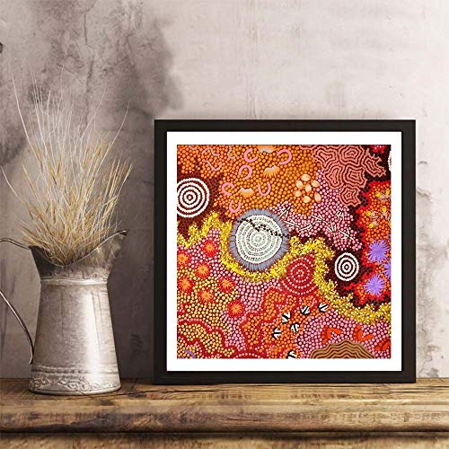 i-zehibho-i Wall Art - Australian Aboriginal Art Fashion Decor Art Print - 12x12in with Frame