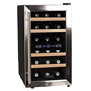 Koldfront 18 Bottle Free Standing Dual Zone Wine Cooler – So far, so good with a few minor flaws.