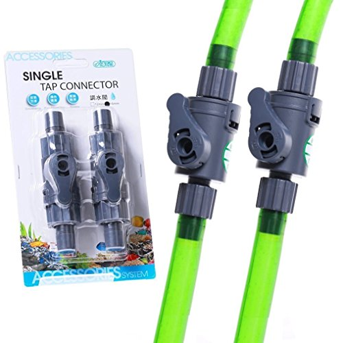 ISTA 2pcs SINGLE Tap connector 12mm Control Valve Quick TAP- HOSEING FILTER Flow