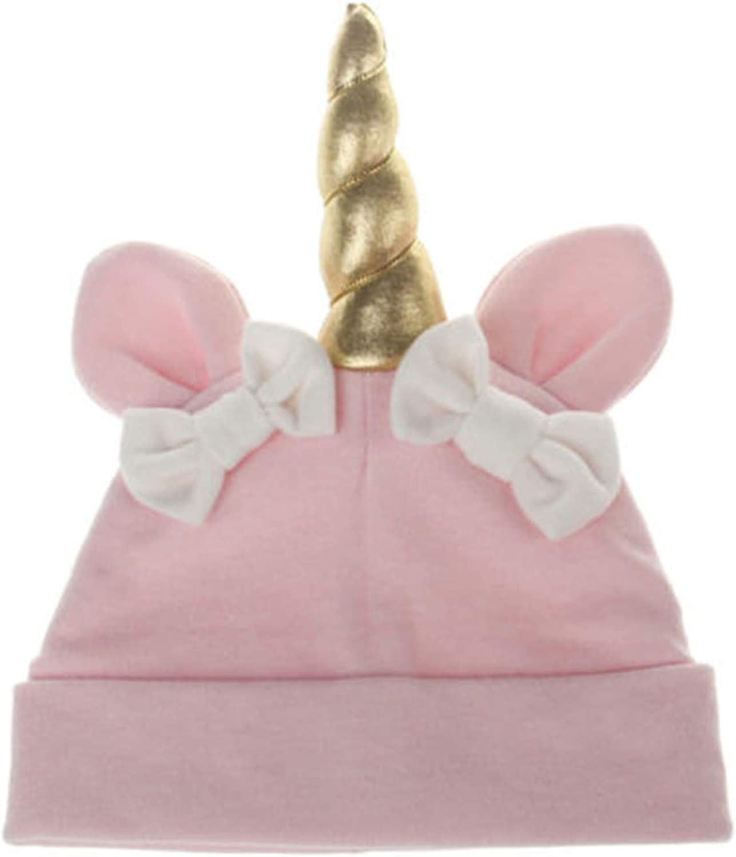 Christmas Kids Hats for Girls Unicorn Pattern Soft Children Hat Girl Knot Cap Boy Cute Beanies Costume Bonnet