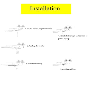 Drywall LED Profile with Clip-in Diffuser,Fixed with Screws Delite 6Pack 3.3Ft//pcs Plaster LED Channel,Trimless Recessed LED Aluminum Channel with Flange for Double Row LED Strip