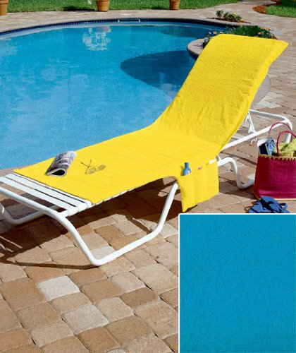 Turquoise Terry Cloth Chair Covers by GetSet2Save
