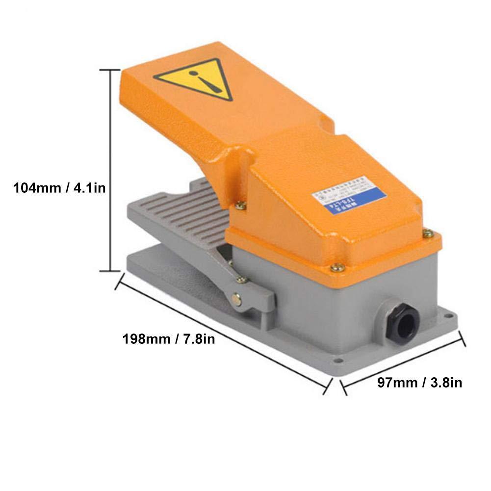 Interruttore a pedale Shell in alluminio industriale Controller a pedale Contatto momentaneo antiscivolo attrezzatura macchine utensili