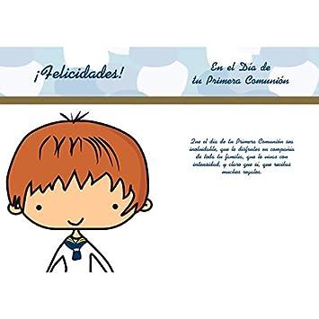 CGN Tarjeta comunión niño 15x23 cm