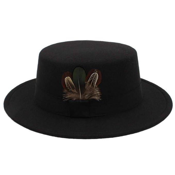 447df3d4e1a New Pork Pie Hat Men Tan Wool Fedora Hats Winter Bowler Women Brown Felt  Fedoras Hat