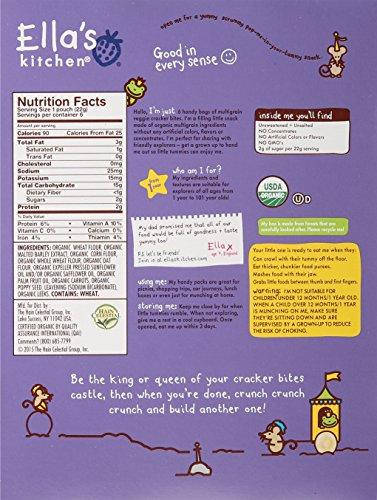 Ella's Kitchen Organic Toddler Cracker Bites - Veggie - 6 ct