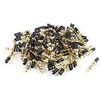 Purchase 100 Pcs Gold Tone 3.5mm Male Plug for Stereo Earphone Headphone Audio wholesale
