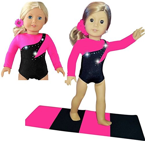 Dolls Gymnastics Outfit Clothes and Accessories Play Set Toy for Kids Girls