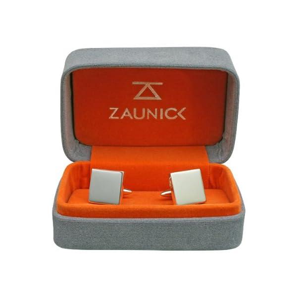 ZAUNICK-Bern-Bear-Cufflinks-Sterling-Silver-crest-enamel