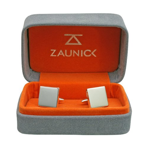 ZAUNICK Medical Doctor Caduceus Cufflinks, Sterling Silver by ZAUNICK (Image #3)