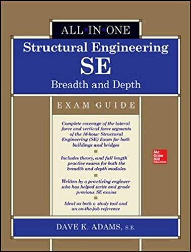 structural engineering se all in one exam guide breadth and depth rh amazon com Cicerone Exam Study Guide Exam Study Guide Book