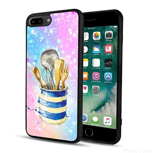 Shine Black Kitchenware Phone Case Fit for iPhone 7 Plus, iPhone 8 Plus Bumper Slim Shockproof Scratch?Proof Protective Cover