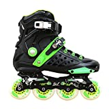 Kingdom GB DLF Dynamic Wind Freestyle Speed Slalom Inline Skates, Black/Green, 38eu