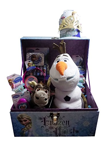[Disney's Frozen Ultimate Dress Up Chest with Jewelry and Hair Accessories, Olaf Plush, and Disney Store Sven Plush - Ideas for EASTER GIFT BASKET for Birthday, Get Well] (Olaf Costumes 2017)