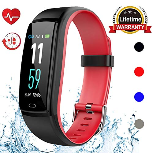 Mgaolo Fitness Tracker HR, Activity Tracker Waterproof Smart Watch Wristband with Heart Rate Blood Pressure Pedomete for Android and iPhone (Red) by Mgaolo (Image #8)